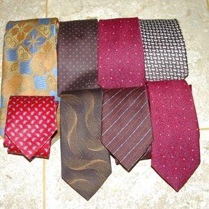 Vintage Men's    8 Ties Bundle